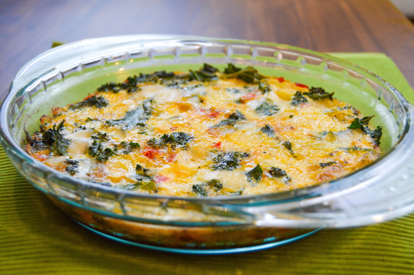 Crustless Kale Quiche - Lindsey Smith | Lindsey Smith